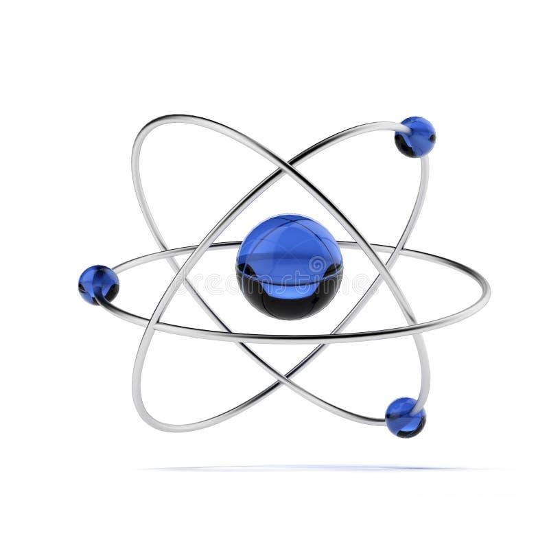 Orbitaal model van atoom stock illustratie