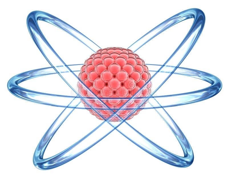 Orbital Atom model - elementary particle. Orbital Atom model on a white background vector illustration