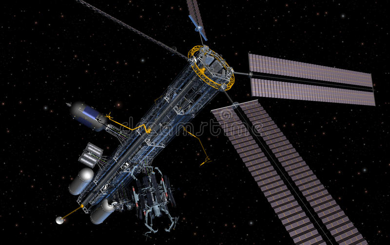 Download Orbital Platform stock illustration. Image of satellite - 15686981