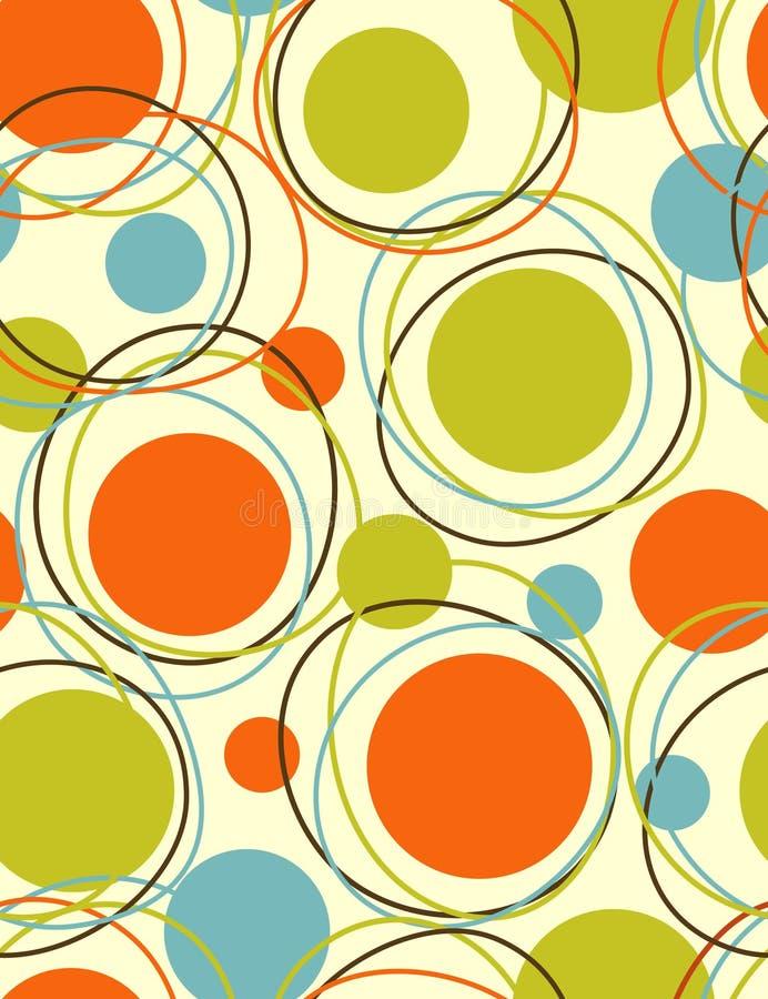 Orbite - reticolo senza giunte astratto illustrazione vettoriale