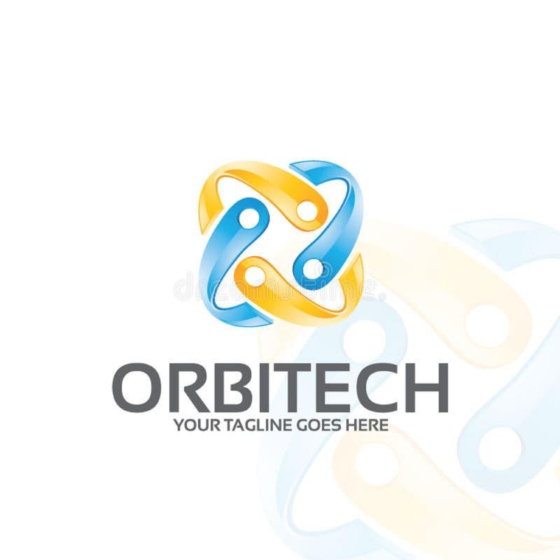 Orbitech - molde do logotipo imagens de stock