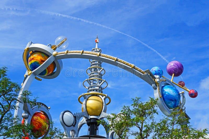 Orbiter-Fahrt Disney Worlds Astro am magischen Königreich stockfotos