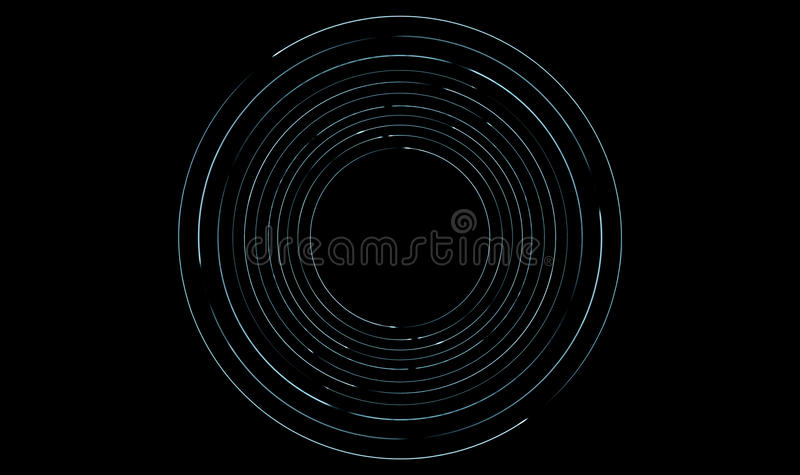 Orbiting Light Trails. A collection of light rings orbiting round a central point royalty free stock photography