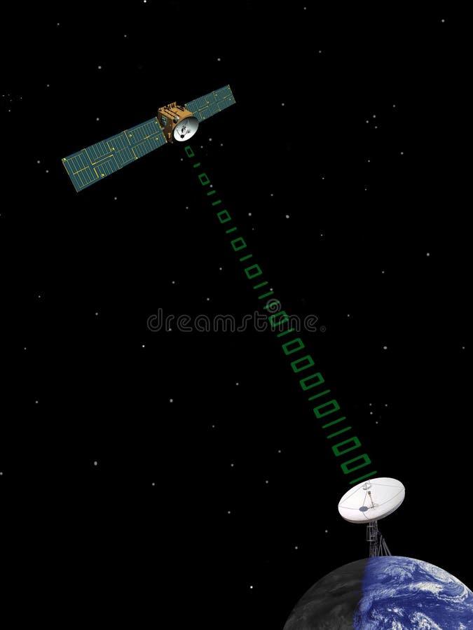 orbiting satellit för kommunikation arkivbild