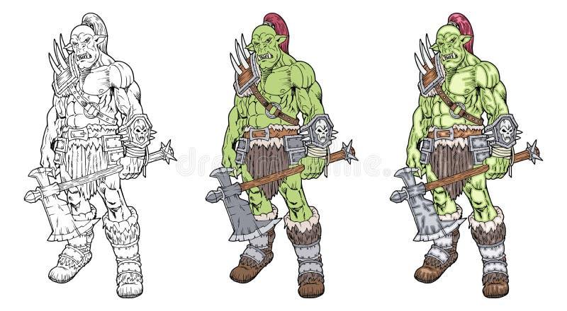 Orc royalty ilustracja
