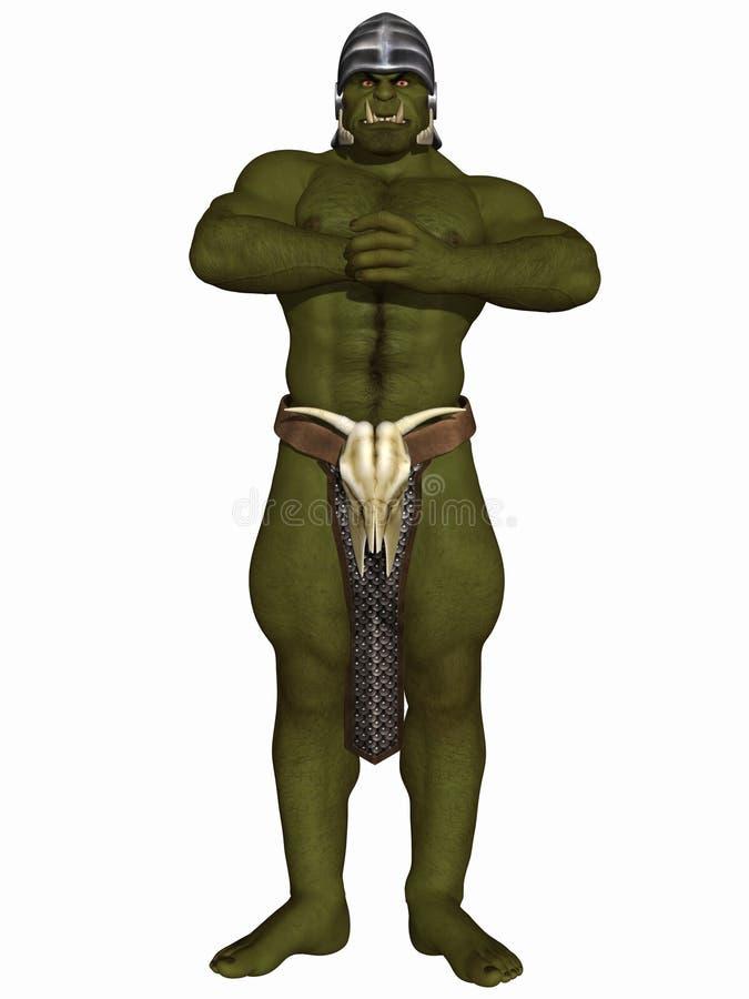 Orc - Fantasy Figure. 3 D Render of an Orc - Fantasy Figure stock illustration
