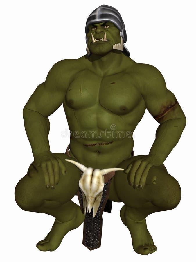 Orc - figura di fantasia illustrazione di stock