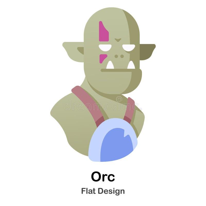 Orc Flat Icon vector illustration