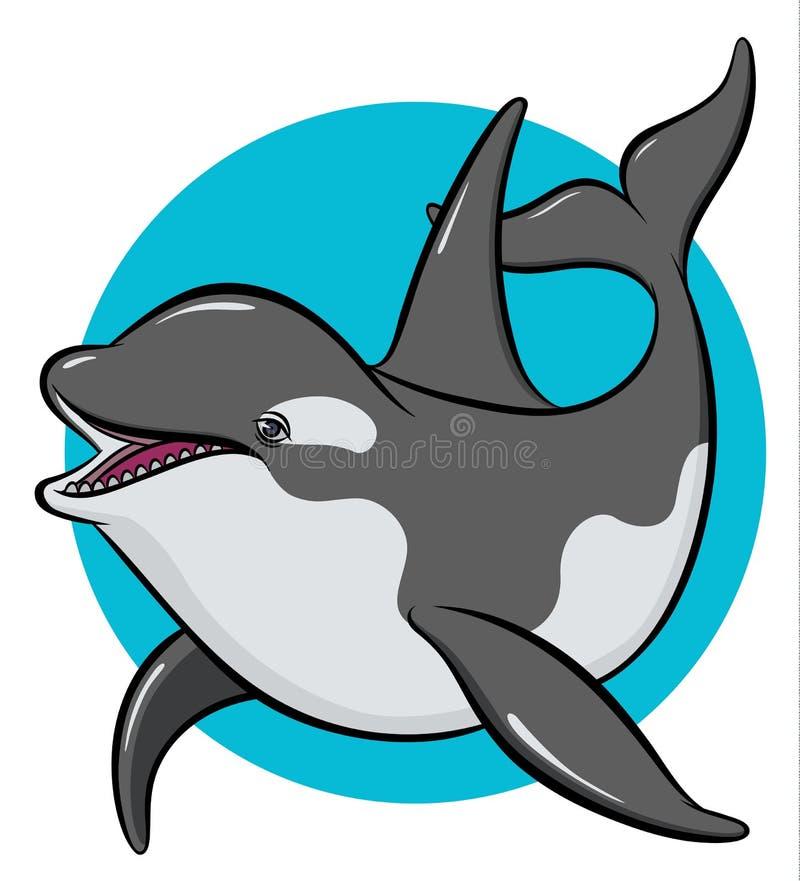 Orca colorida da arte ilustração stock