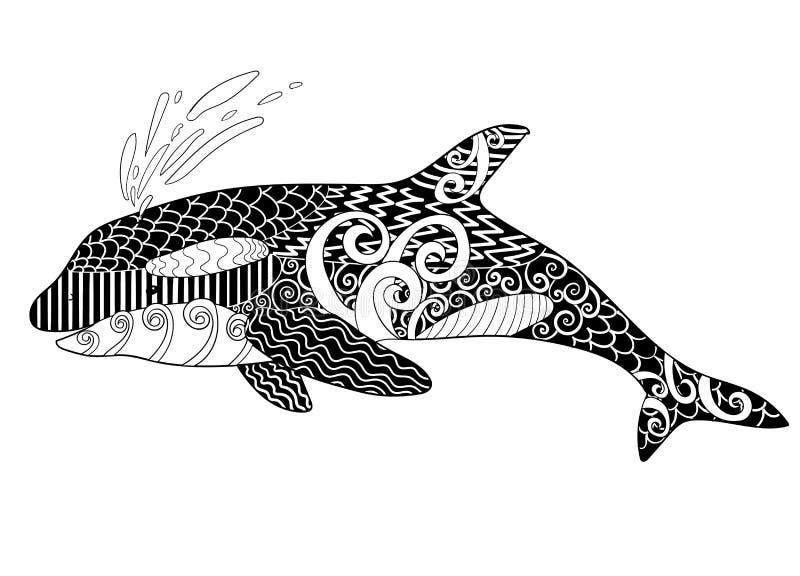 Orca con los altos detalles libre illustration