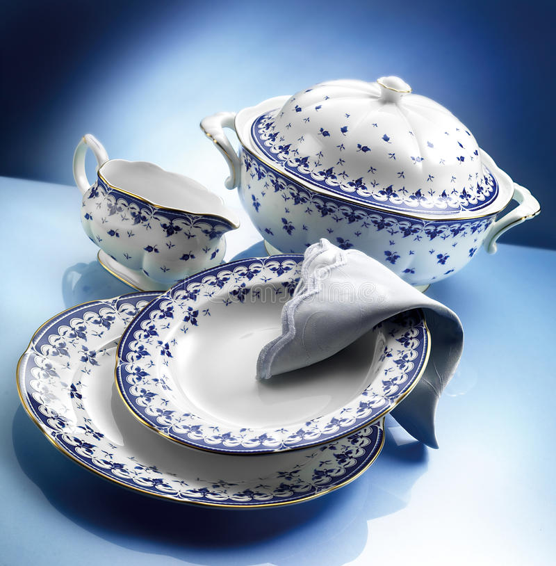 Download Orcelain dinner set stock photo. Image of saucer, delicate - 39500368