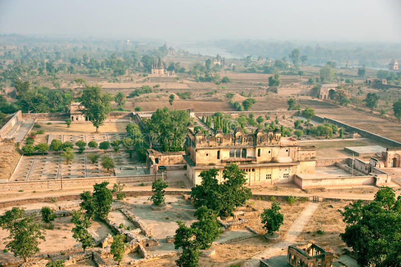Orcha's Pałac, India. fotografia stock