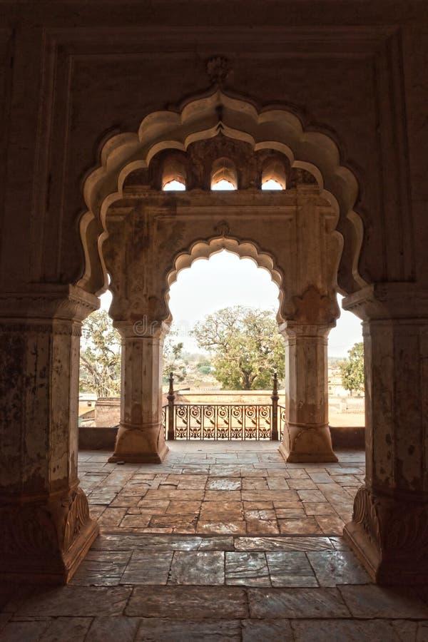 Orcha's Pałac, India. zdjęcie stock