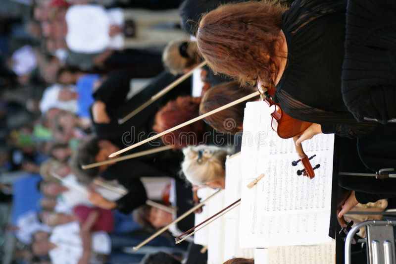 Orchester der klassischen Musik stockfotos
