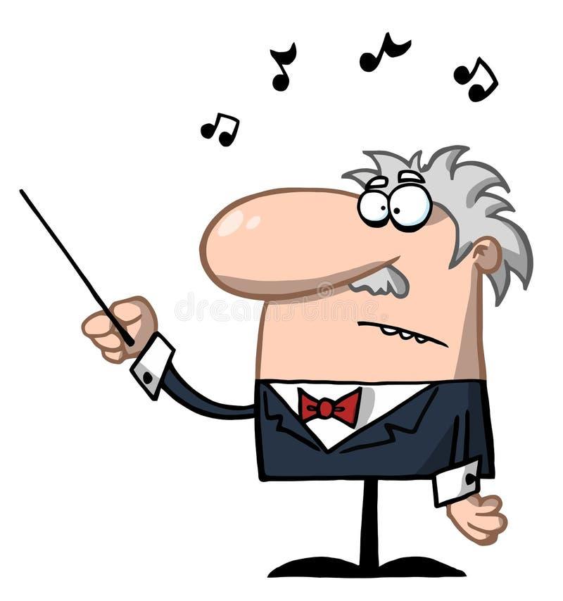 Orchester-Leiter anhält Taktstock t lizenzfreie abbildung