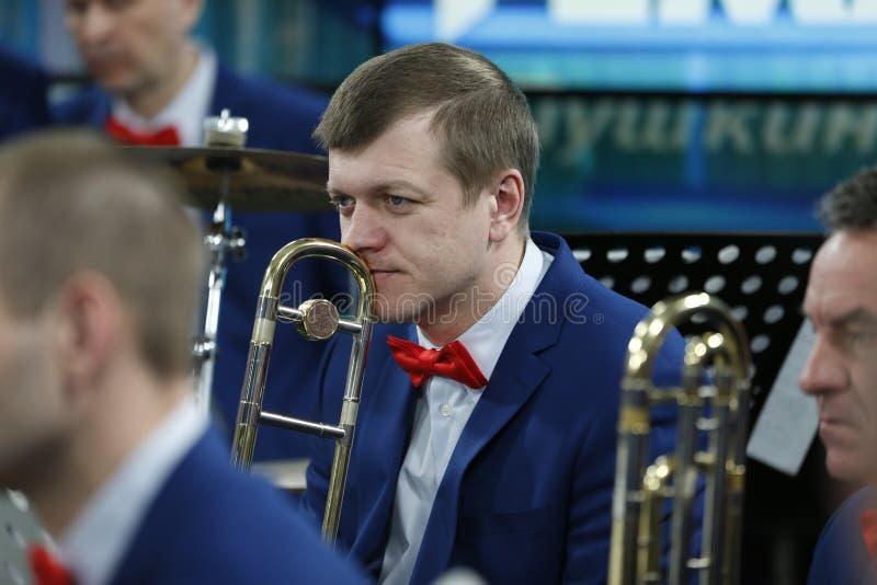 Orchestermusiker lizenzfreie stockfotos
