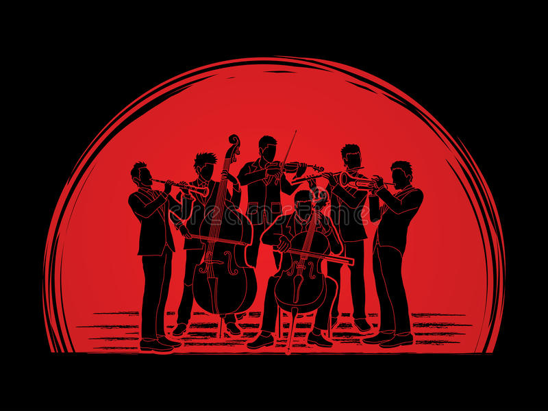 orchestra illustrazione vettoriale