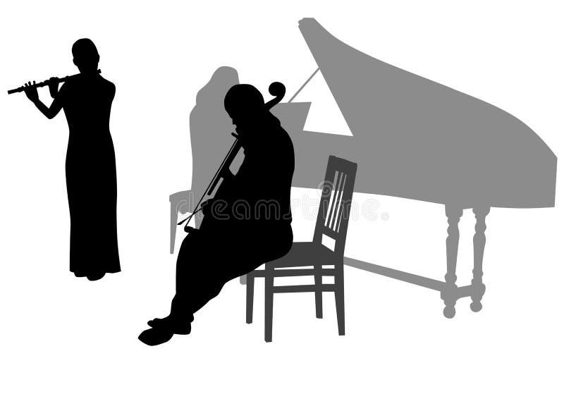 Orchestra in anticipo di musica illustrazione di stock