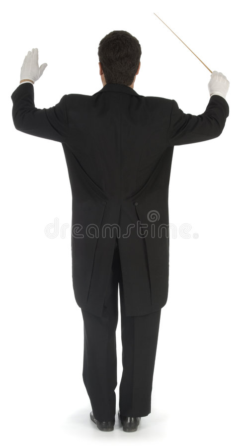 Download Orchestra Conductor Facing Away Stock Photo - Image: 3801020
