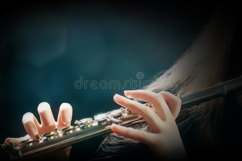 Orchestra instruments flute royalty free stock photos
