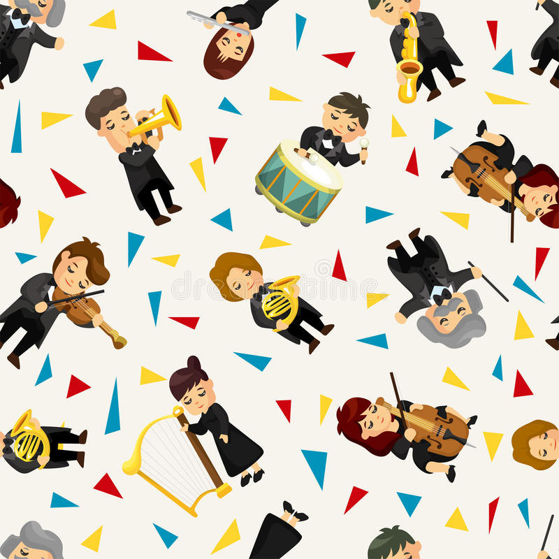 Download Orchestra Music Player Seamless Pattern Stock Image - Image: 22636971