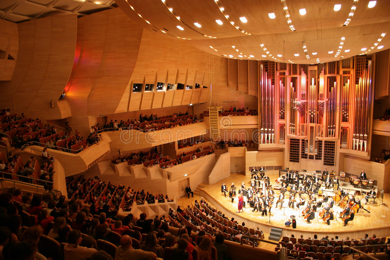 Orchestra sinfonica fotografie stock