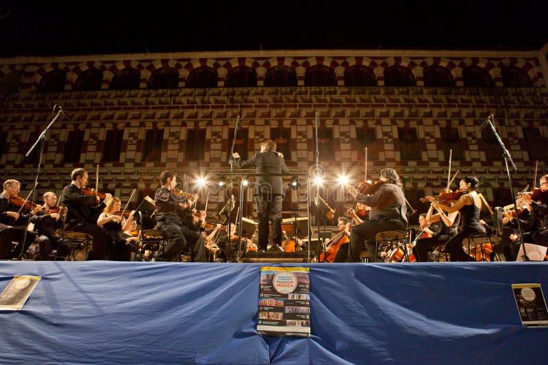 Orchestre à la plaza Alta, Espagne photographie stock libre de droits