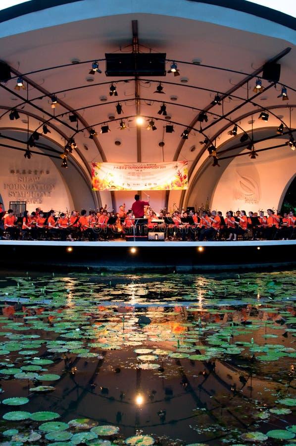Orchestre de Chinois de Singapour photos stock