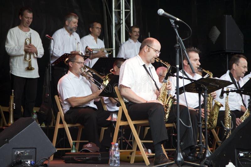 Orchestre du jazz B3 au festival de jazz de Montreux images libres de droits