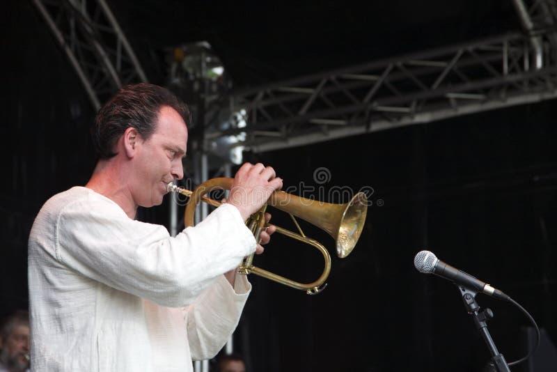 Orchestre du jazz B3 au festival de jazz de Montreux photos libres de droits