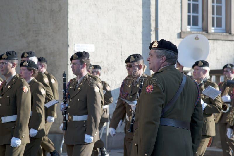 Orchestre luxembourgeois de soldats photographie stock