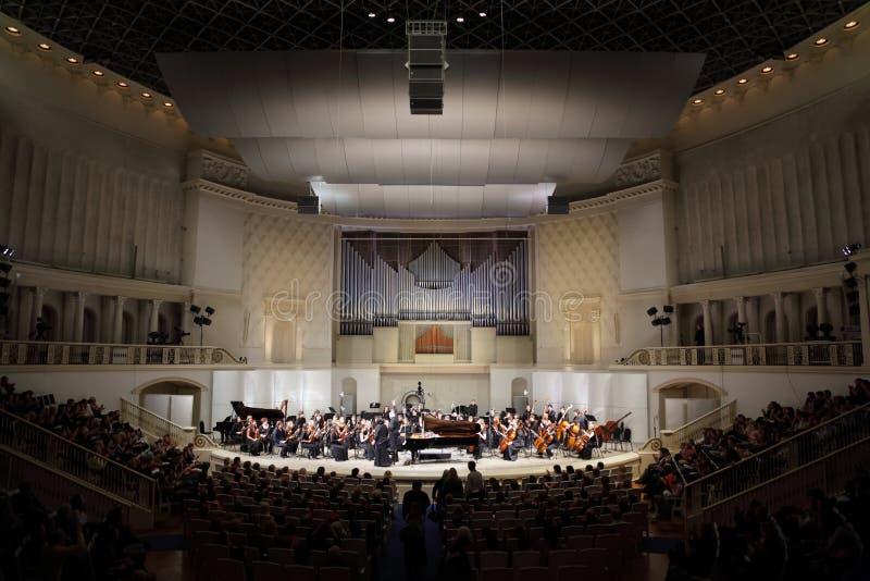 Orchestre symphonique de conservatoire d'état de Moscou images stock