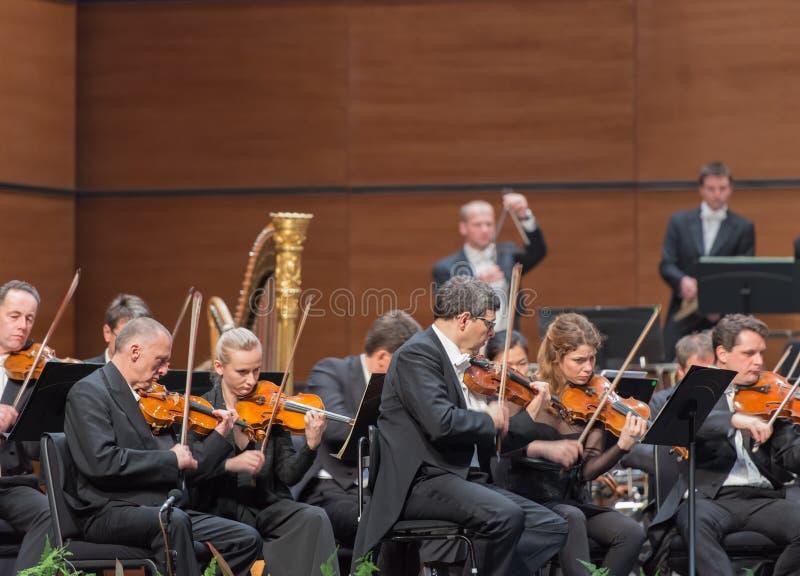 Orchestre symphonique de radio de Vienne image stock