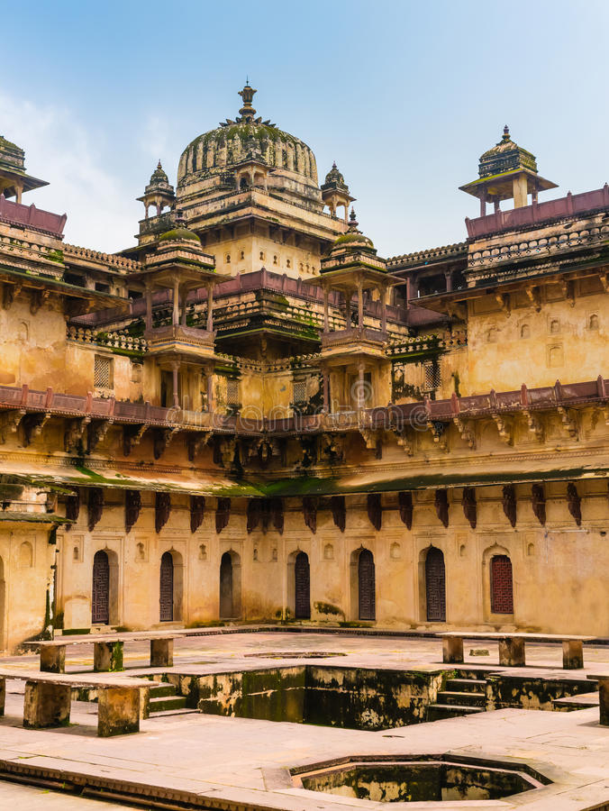 Orchha pałac, India zdjęcie royalty free