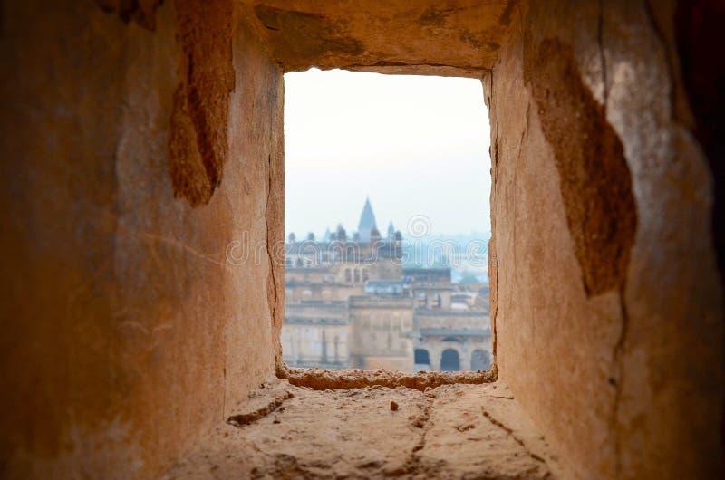 Orchha pałac, Rajasthan, India fotografia royalty free