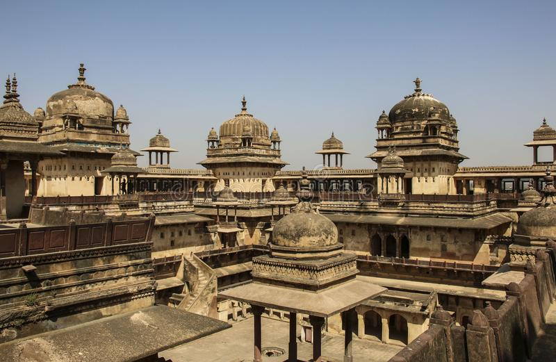 Orchhafort Jahangir Mahal, Orchha, Madhya Pradesh, India royalty-vrije stock afbeelding