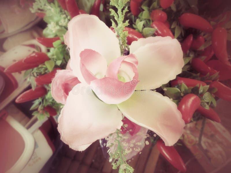 orchidée des fleurs artificielles images libres de droits