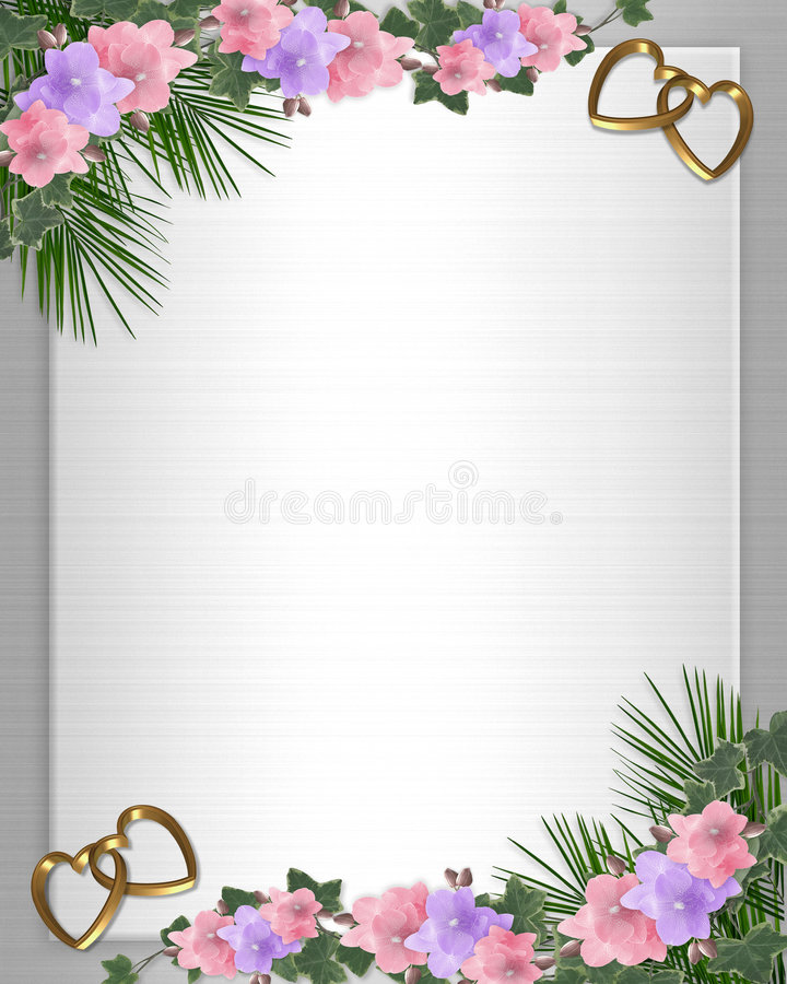 orchidées de lierre d'invitation de cadre wedding illustration de vecteur