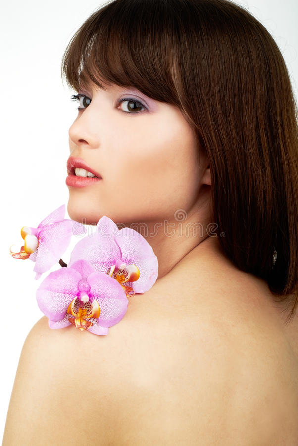 orchid γυναίκα στοκ εικόνες με δικαίωμα ελεύθερης χρήσης