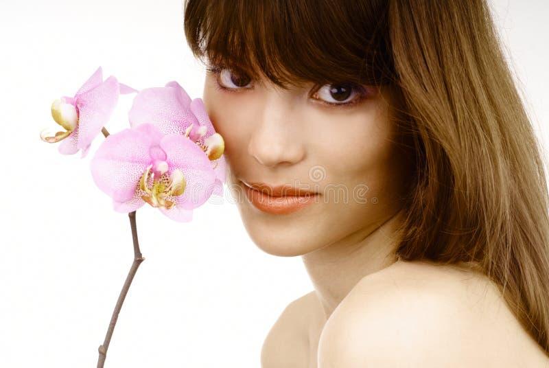 orchid γυναίκα στοκ φωτογραφίες με δικαίωμα ελεύθερης χρήσης