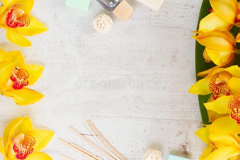 orchid λουλουδιών κίτρινο στοκ εικόνες με δικαίωμα ελεύθερης χρήσης