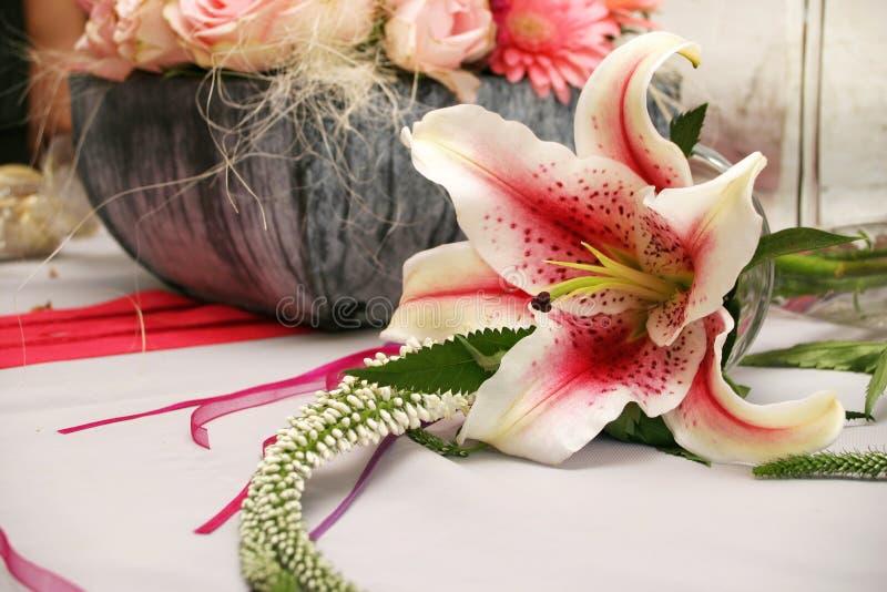 Download Orchid ρύθμισης στοκ εικόνα. εικόνα από posy, φτέρη, orchids - 115605