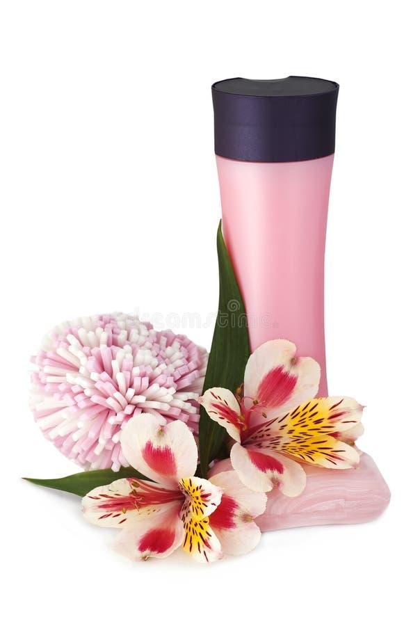 orchid σφουγγάρι σαπουνιών σα στοκ εικόνες με δικαίωμα ελεύθερης χρήσης