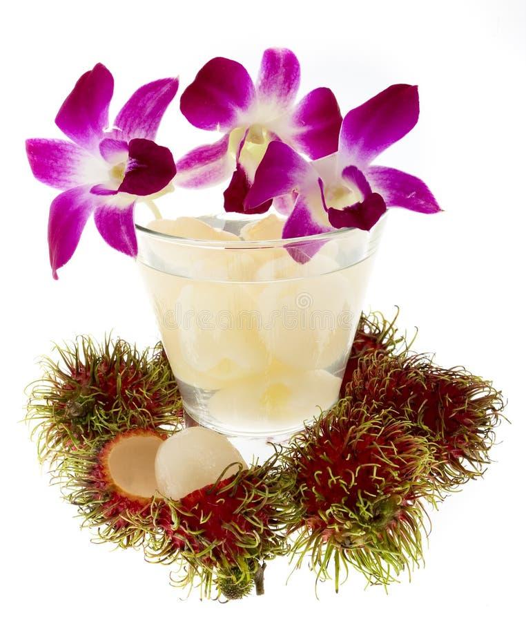 orchid χυμού καρπού rambutan στοκ φωτογραφίες με δικαίωμα ελεύθερης χρήσης