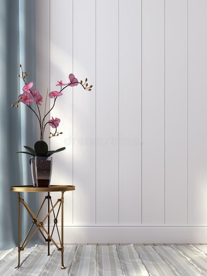 Orchidea na złotym stole obraz royalty free
