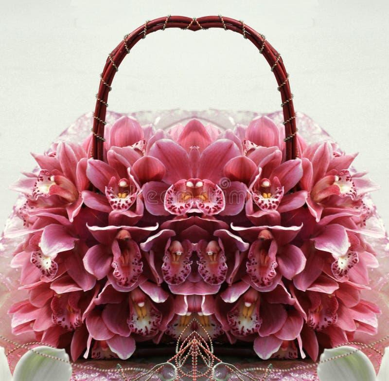 Orchideehandtasche 3 lizenzfreies stockfoto