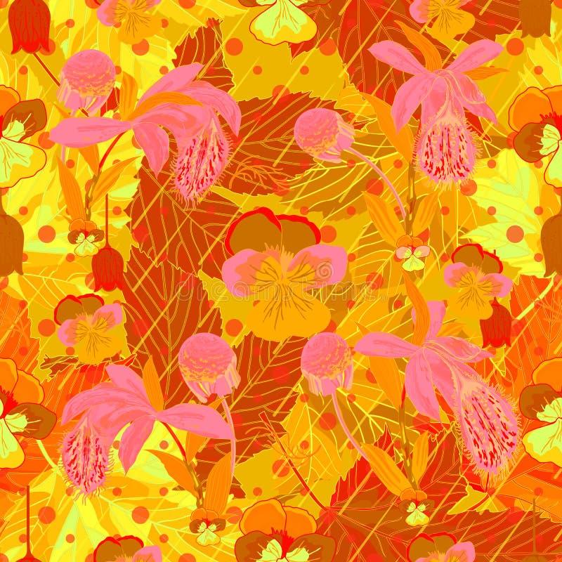 Orchideen auf einem Hintergrund des Laubs stockbilder