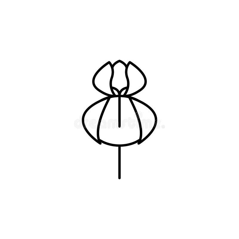 Orchideepictogram Element van aardpictogram voor mobiel concept en Web apps Het dunne pictogram van de lijnorchidee kan voor Web  vector illustratie