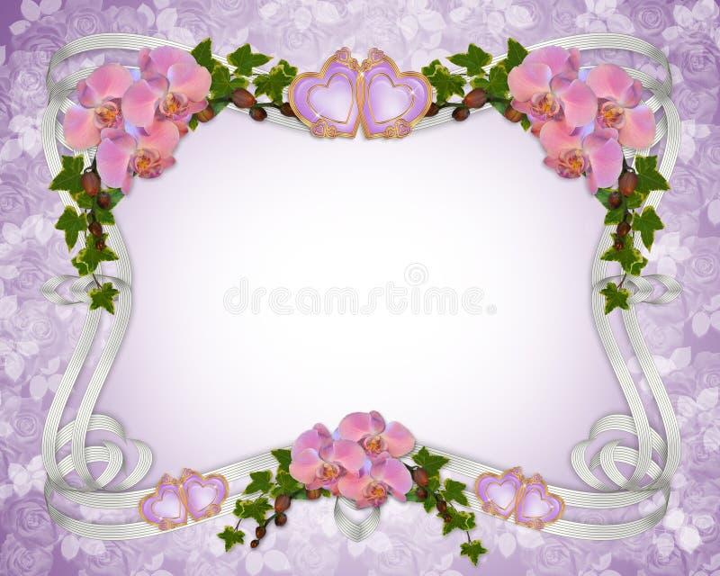 orchids κισσών πρόσκλησης γάμος ελεύθερη απεικόνιση δικαιώματος