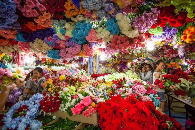 orchids för mong för marknad för kong för blommahong kok arkivbilder